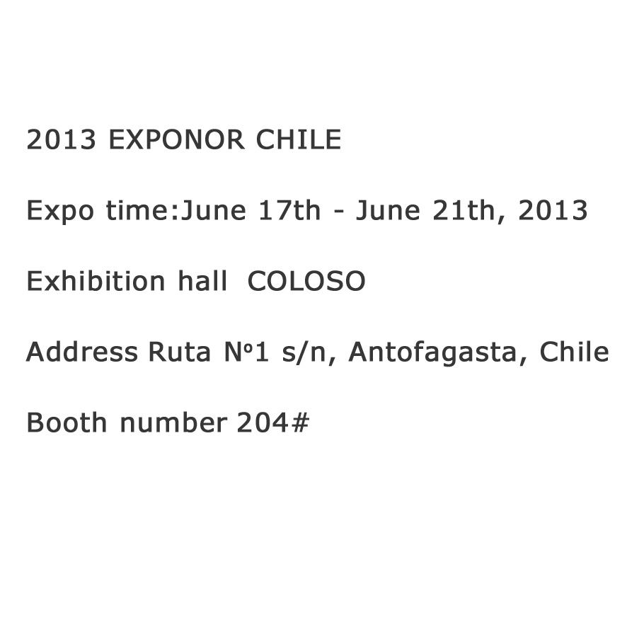 2013  EXPONOR CHILE
